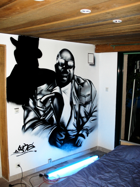 portrait du rappeur Notorious Big